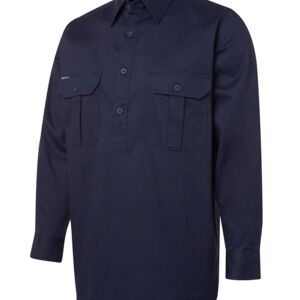 JB's L/S 190G Close Front Work Shirt Thumbnail