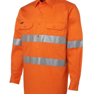 JB's Hi Vis (D+N) Close Front L/S Shirt 190G Thumbnail