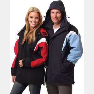 Unisex Bathurst Tri-colour Jacket With Hood Unisex Thumbnail