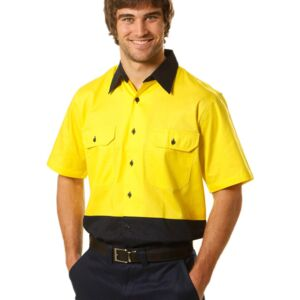 Hi-Vis Short Sleeve Safety Shirt Thumbnail