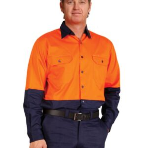Hi-Vis Long Sleeve Safety Shirt Thumbnail