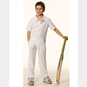 Kids Short Sleeve Cricket Polo Thumbnail