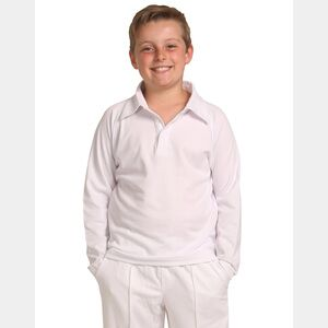 Long Sleeve Kids Cricket Polo Thumbnail